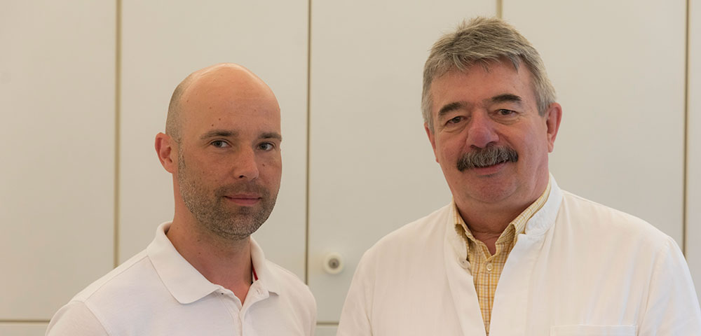 Hausarzt: Dr. med. Michael Weingarz (rechts) und Dr. med. Christopher Belgardt