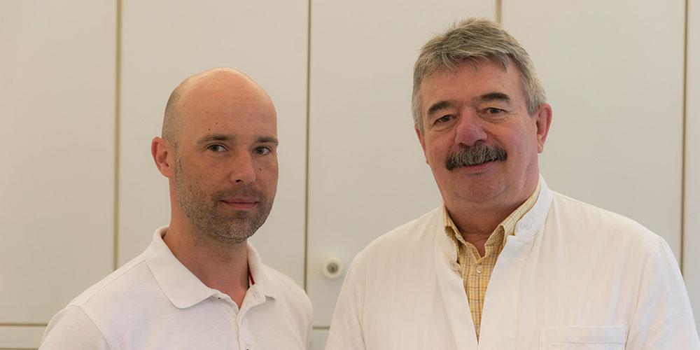 Dr. med. Michael Weingarz (rechts) und Dr. med. Christopher Belgardt